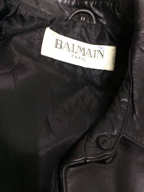 Balmain BALMAIN Paris Black Leather Biker Rockers Rockabilly Cafe Racer Jacket Size US M / EU 48-50 / 2 - 3