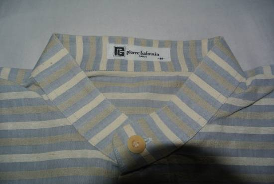 Balmain Balmain vintage 90's shirt Stripes stripped Grey Beige cream made in Japan size XS Size US XS / EU 42 / 0 - 3