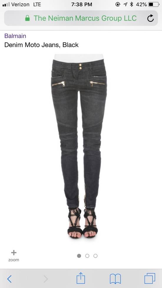 Balmain Denim Moto Jeans, Black Size US 28 / EU 44 - 5