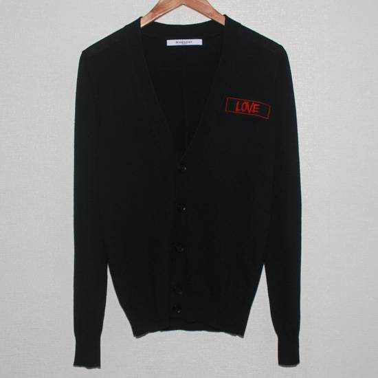 Givenchy Men's Givenchy Love Embroidered Black Cardigan Size S Size US S / EU 44-46 / 1 - 1