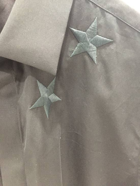 Givenchy Black Embroidered Star Long Sleeve Button Down Shirt Size US L / EU 52-54 / 3 - 3