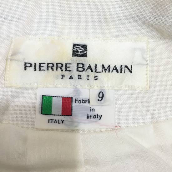 Balmain PIERRE BALMAIN PARIS Double Breasted Made In ITALY White Blouse Jacket Blazer Size 36S - 7