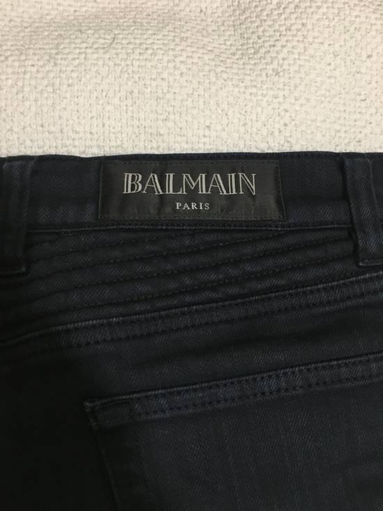 Balmain Navy Biker Jeans Size US 30 / EU 46 - 3
