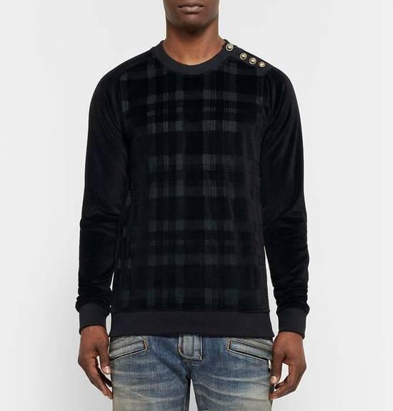 Balmain Size Small - Checked Button Shoulder Sweatshirt- FW16 - $1050 Retail Size US S / EU 44-46 / 1 - 12