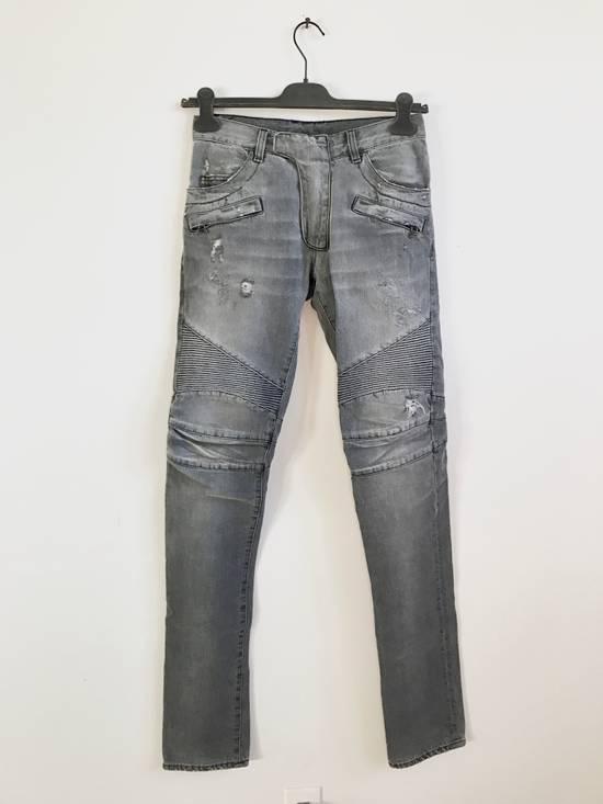 Balmain FW10 Decarnin Biker Jeans Size US 29