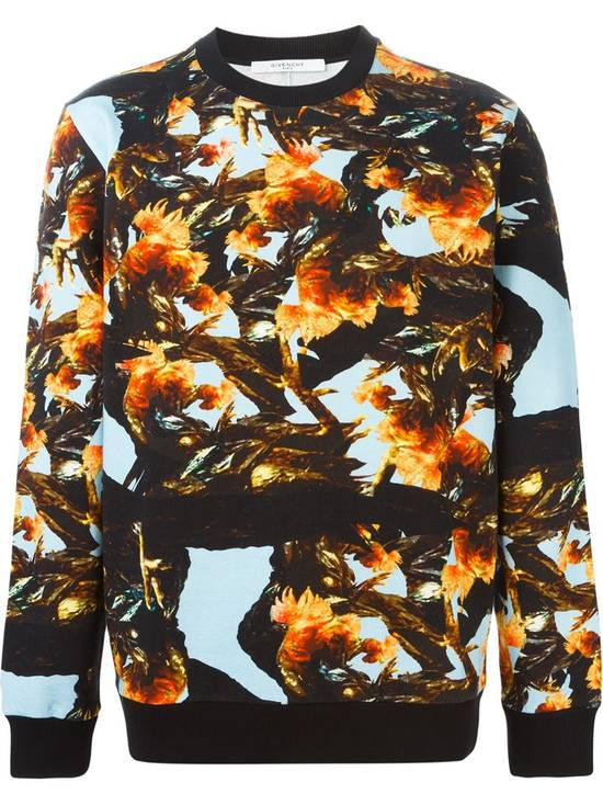Givenchy $760 Givenchy Monkey Rooster Fight Print Rottweiler Stars Sweater size L Size US L / EU 52-54 / 3 - 1