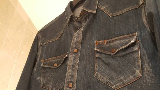 Balmain Decarnin-era dark denim shirt Size US M / EU 48-50 / 2 - 2