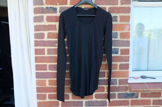 Balmain Black Ribbed Knit Long Sleeve T-shirt Size US M / EU 48-50 / 2