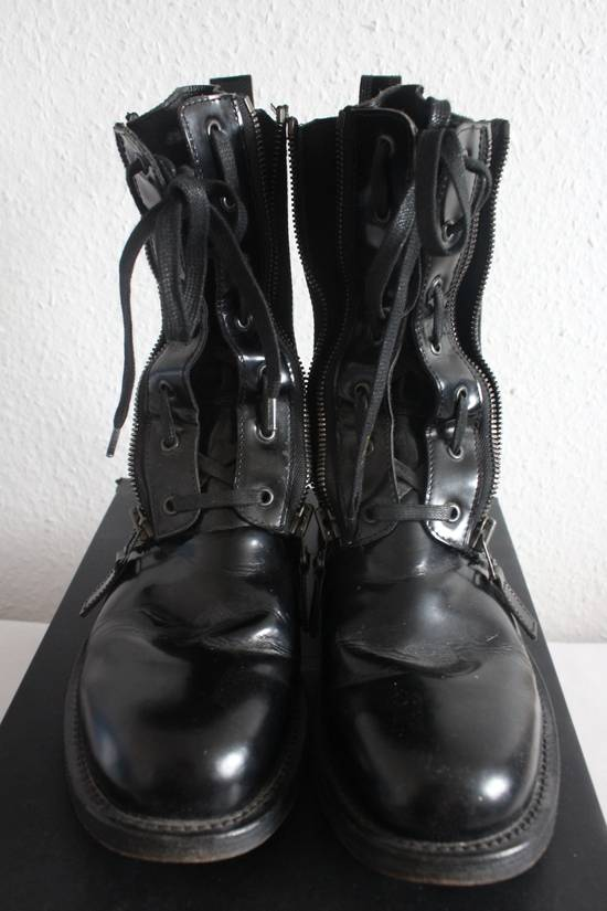 Balmain FW10 Campaign Patent Leather Ranger Boots Decarnin Size US 11 / EU 44 - 3