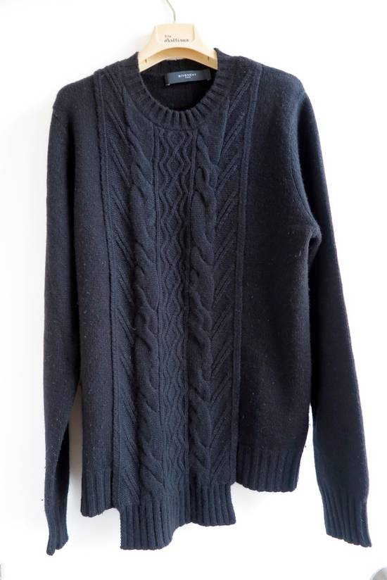 Givenchy GIVENCHY BLACK CASHMERE WOOL CABLE KNIT SWEATER Size US S / EU 44-46 / 1
