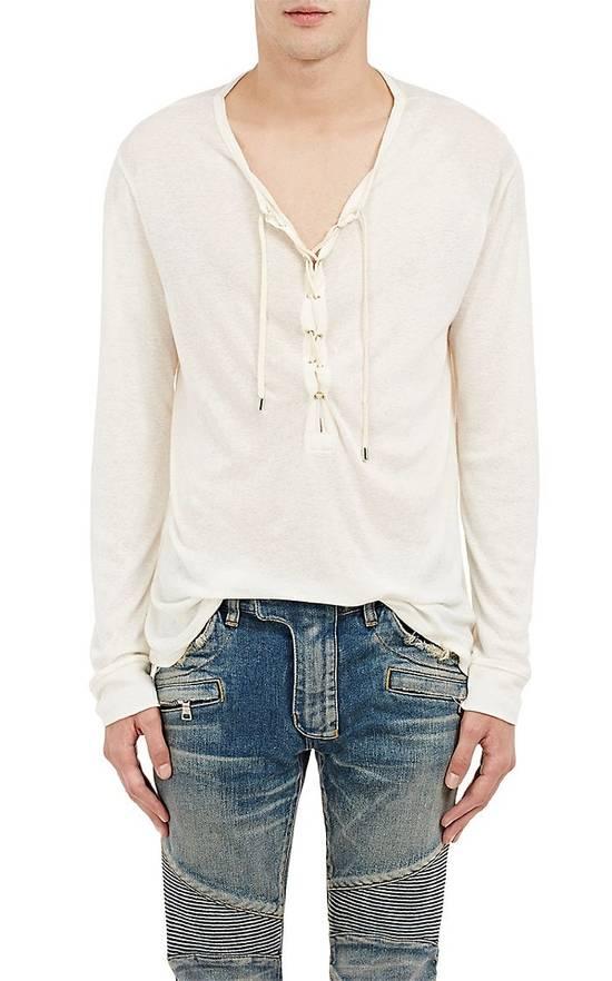 Balmain Size Small - Cashmere Blend Lace Front Shirt - FW16 - $625 Retail Size US S / EU 44-46 / 1