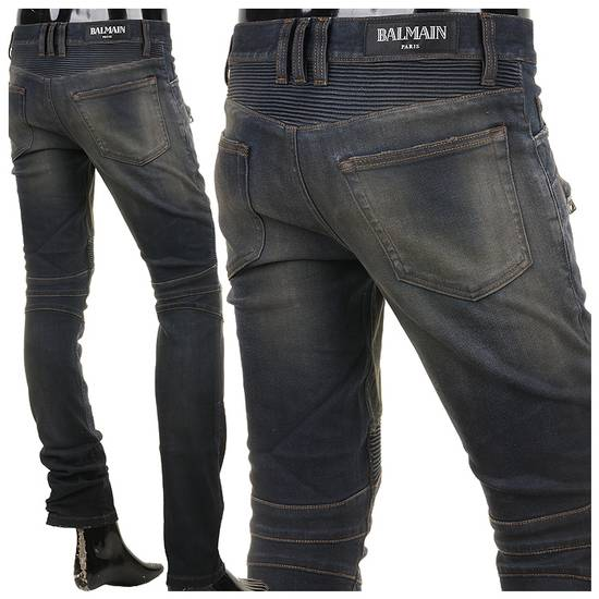 Balmain PRICED TO SELL!! Size 30 Blue Biker Jeans Balmain Size US 30 / EU 46 - 13