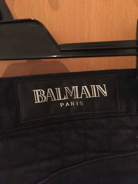 Balmain Quilted Waxed Biker Jeans Size US 31 - 6
