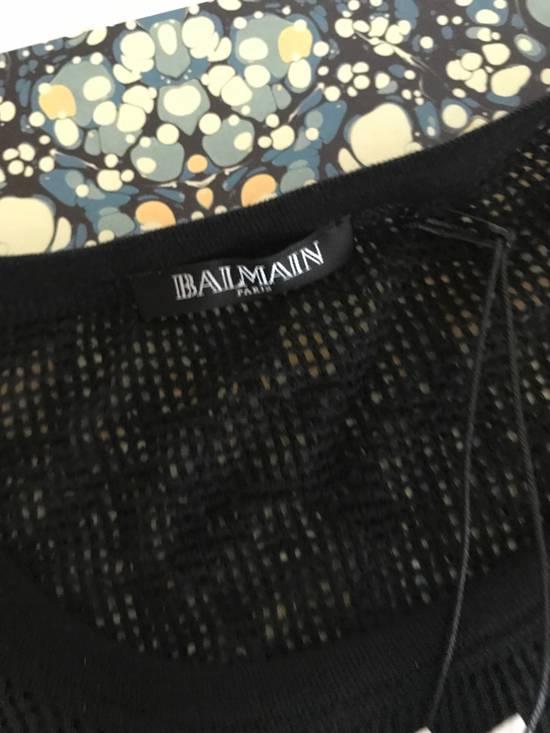 Balmain Balmain Basketweave-Knit Cotton and Linen-Blend Top BRAND NEW WITH TAGS Size US S / EU 44-46 / 1 - 7