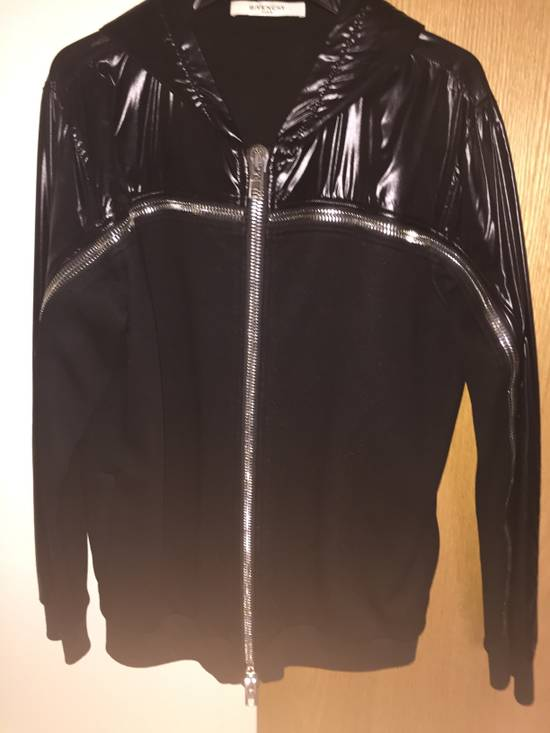 Givenchy Givenchy Men's Black Mixed-Media Zip Hoodie Size US L / EU 52-54 / 3