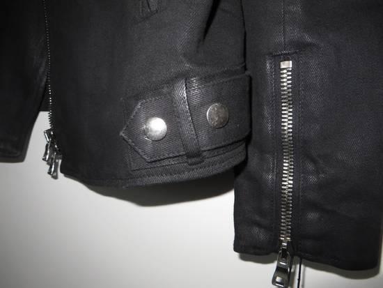 Balmain Waxed denim perfecto biker jacket Size US M / EU 48-50 / 2 - 10
