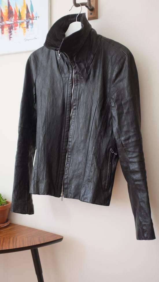 Julius 7 Goat High Neck Leather Jacket Size US S / EU 44-46 / 1