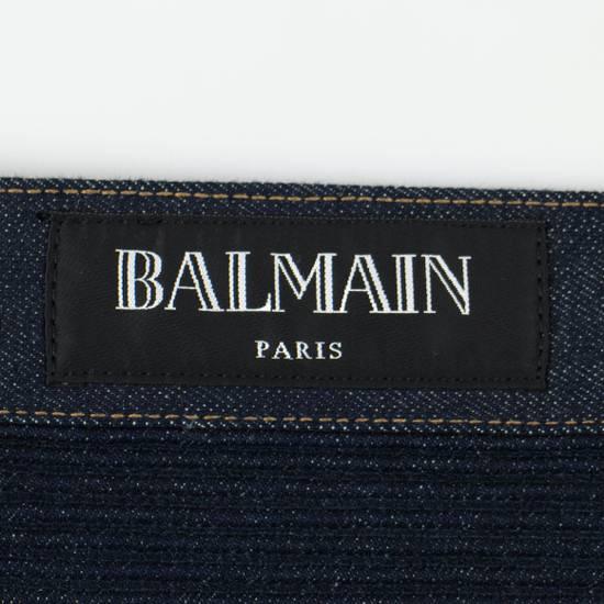 Balmain Blue Denim 'Biker Brut' Slim Fit Jeans Pants Size US 32 / EU 48 - 5