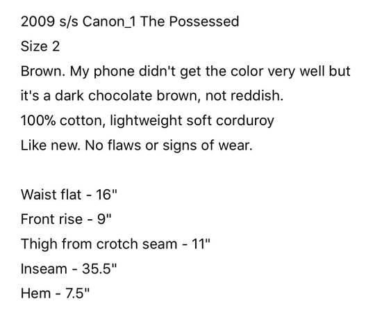 Julius Brown Julius Corduroy Pants Size US 31 - 5