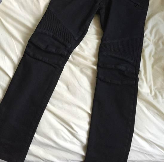 Balmain Biker Jeans Black Size US 30 / EU 46 - 1