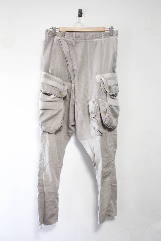 Julius SS12 Cotton Silk Satin Gas Mask Cargo Strapped Pants Size US 30 / EU 46
