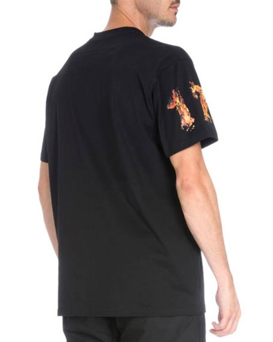 Givenchy Skull & Fire Graphic Short-Sleeve T-Shirt Size US L / EU 52-54 / 3 - 8