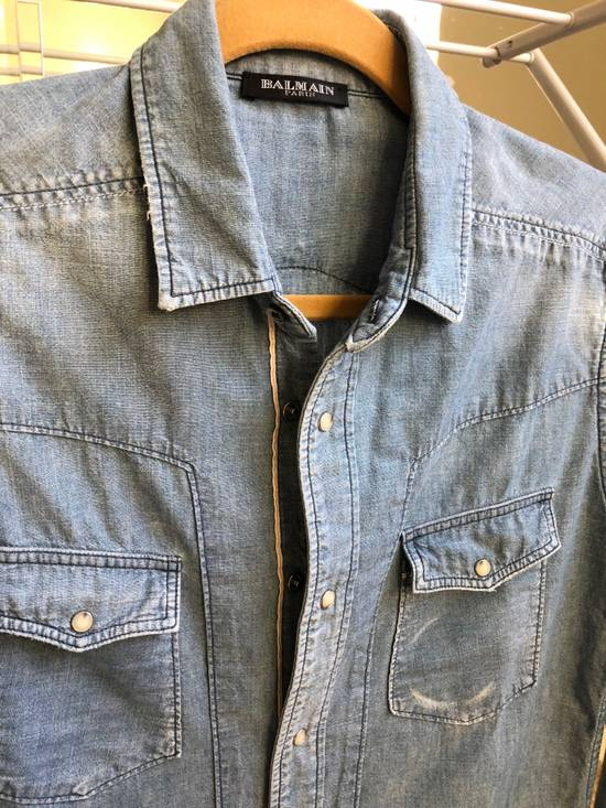 Balmain Balmain Decarnin Era Denim Shirt Size US M / EU 48-50 / 2 - 3