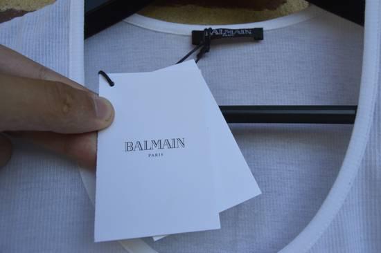 Balmain White Ribbed T-shirt Size US M / EU 48-50 / 2 - 6