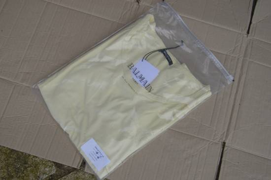 Balmain Yellow Distressed T-shirt Size US M / EU 48-50 / 2 - 8