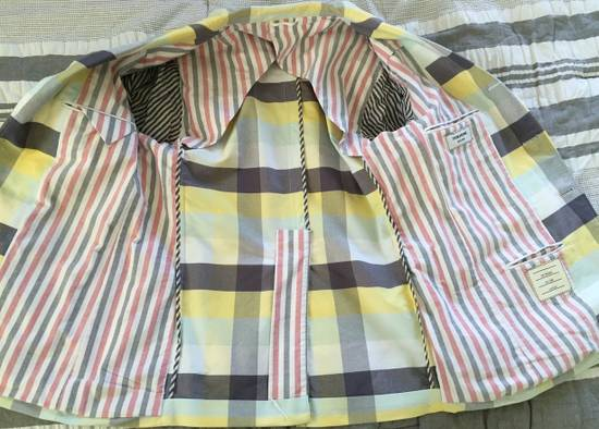 Thom Browne Thom Browne Spring 2011 Size 0 Jacket Yellow Gray Light Blue Plaid Blazer Size 36R - 7