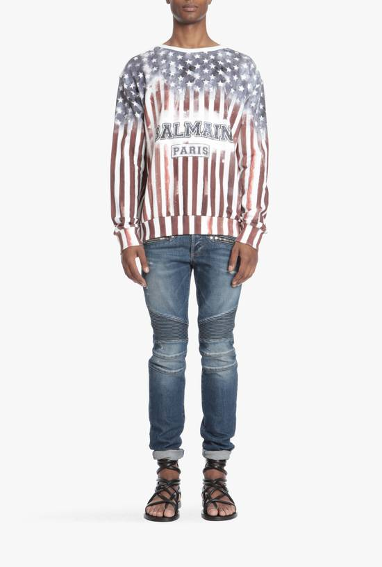 Balmain Flag and Logo Print Sweater Size US L / EU 52-54 / 3 - 1