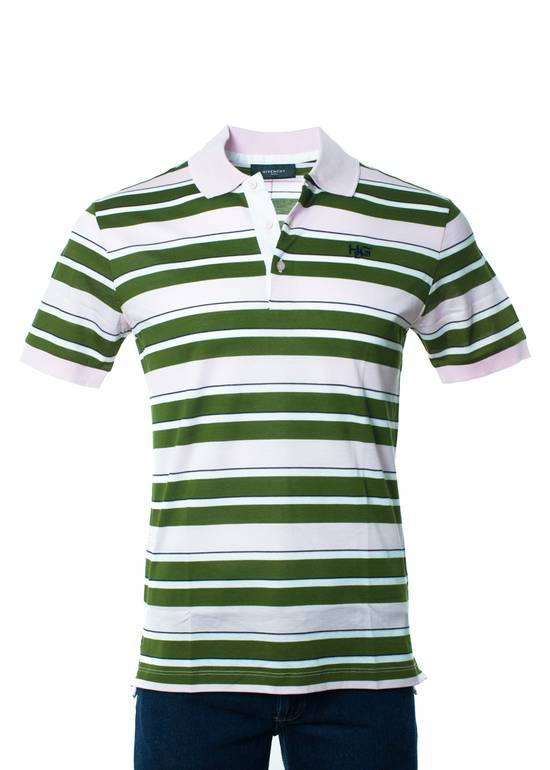 Givenchy Givenchy Men's Pink Striped 100% Cotton Polo Shirt Size Medium Size US M / EU 48-50 / 2