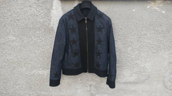 Givenchy Givenchy Star Applique Denim Wool Rottweiler Madonna Bomber Jacket size 48 (M) Size US M / EU 48-50 / 2