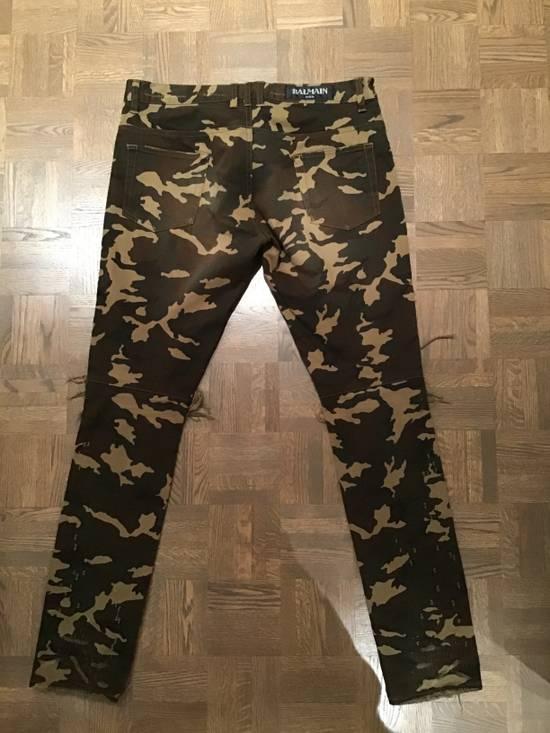 Balmain Camo Destroy Slim Jeans Size US 32 / EU 48 - 1