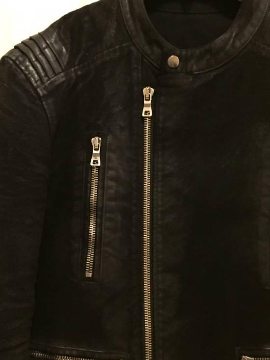 Balmain RARE Waxed Moleskin Biker Jacket Size US L / EU 52-54 / 3 - 5