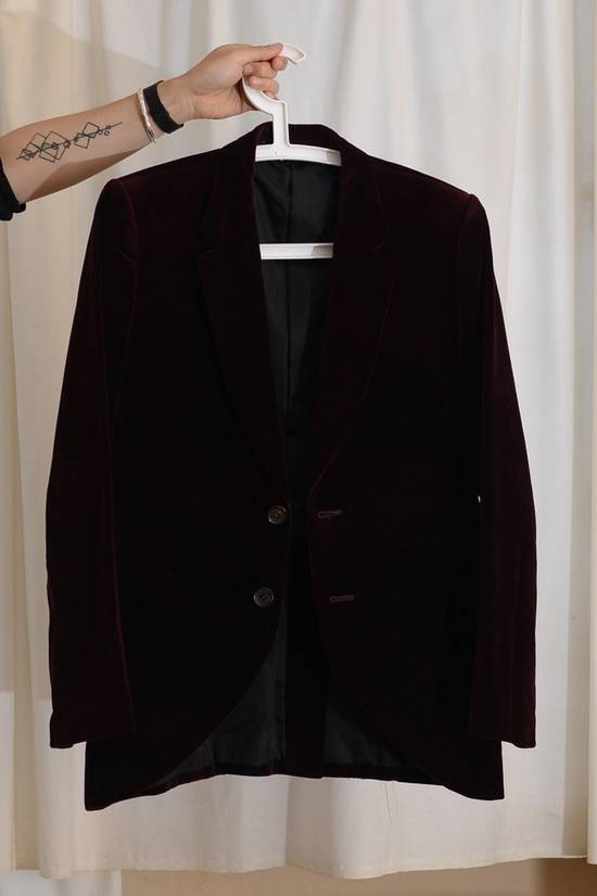Julius velvet 2 button deep red (bordeaux) jacket Size 36S
