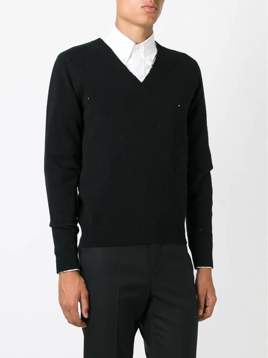 Givenchy Givenchy Destroyed Distressed Wool Slim Fit Rottweiler Knit Sweater Jumper size L (fitted M) Size US M / EU 48-50 / 2 - 2