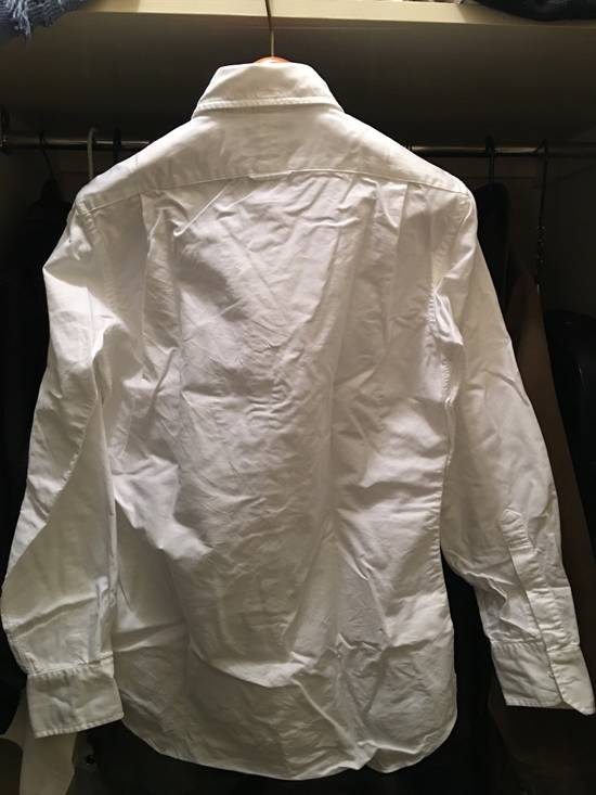 Thom Browne White Oxford with Painted collar detail - 2 Size US M / EU 48-50 / 2 - 3