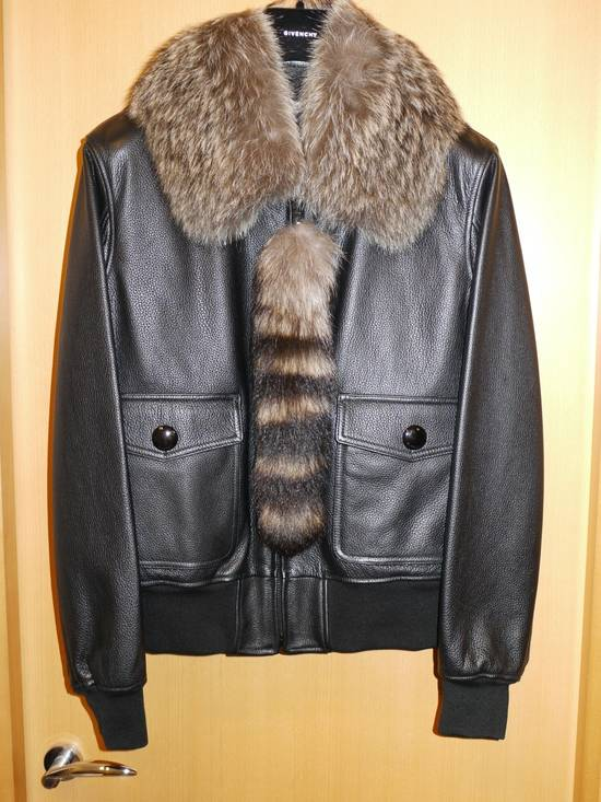 Givenchy Givenchy 15AW Raccoon Collar Calf Leather Jacket size 48 Size US M / EU 48-50 / 2