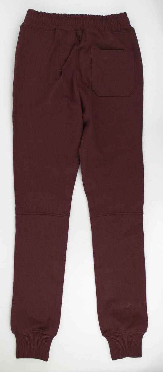 Balmain Burgundy Cotton 'Calecon Nervures' Sweatpants Pants Size XS Size US 30 / EU 46 - 1