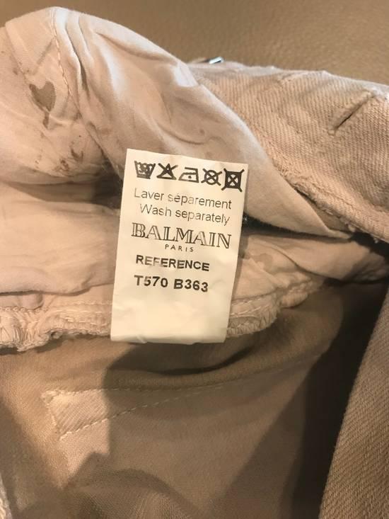 "Balmain FW11 Decarnin ""Dirty"" Skinny Jeans (dirty white/tan Color) Size US 30 / EU 46 - 8"