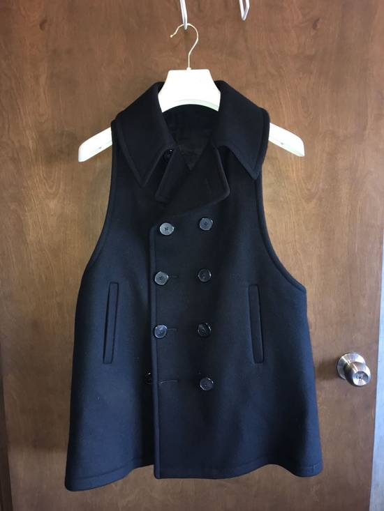 Givenchy FW12 Two Piece Black Wool Peacoat sz 48 double layer coat Riccardo Tisci Size US M / EU 48-50 / 2 - 10