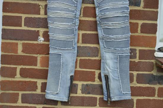 Balmain Balmain Blue Ribbed Biker Jeans Size US 31 - 5