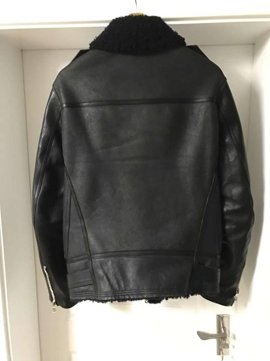 Balmain Black Shearling Leather Biker Jacket Size US M / EU 48-50 / 2 - 1