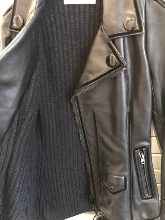 Givenchy Women Leather Biker Jacket Size US XXS / EU 40 - 5