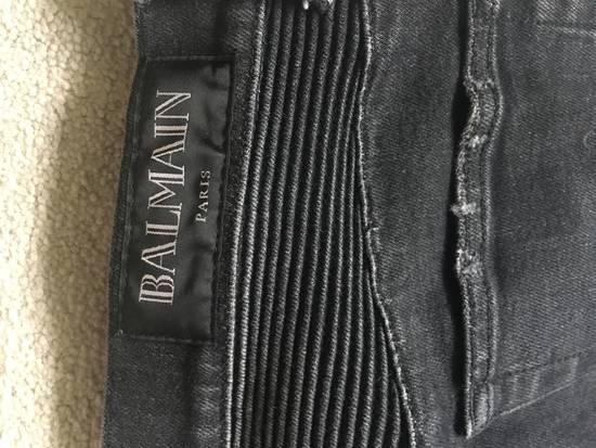 Balmain Black Skinny Biker Jeans Size US 32 / EU 48 - 2