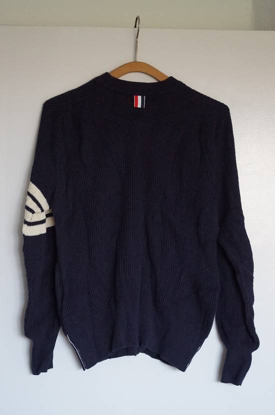 Thom Browne Blue Striped Ribbed-Knit Cotton Sweater Size US M / EU 48-50 / 2 - 7