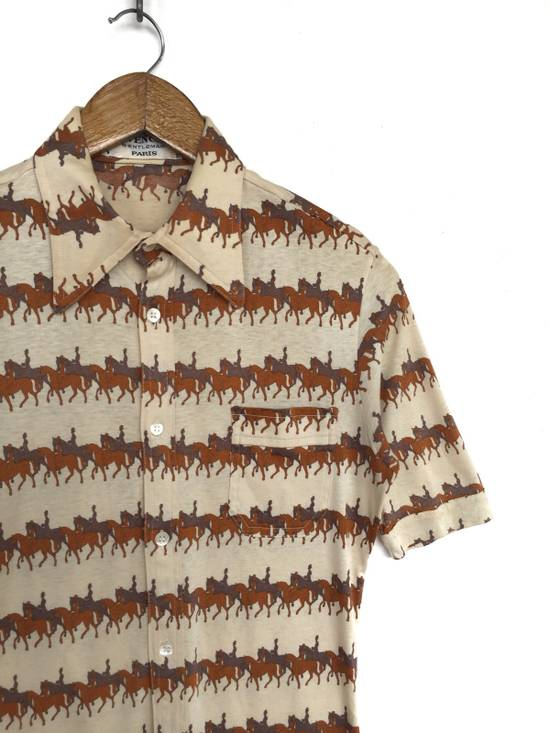 Givenchy Made in France 80's Overprinted Horse Stretched Slim Fit Button Up Shipping Size US S / EU 44-46 / 1 - 4
