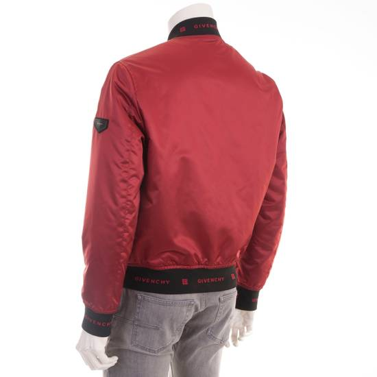 Givenchy Dark Red Nylon Givenchy Paris 4G Bomber Jacket Size US M / EU 48-50 / 2 - 3