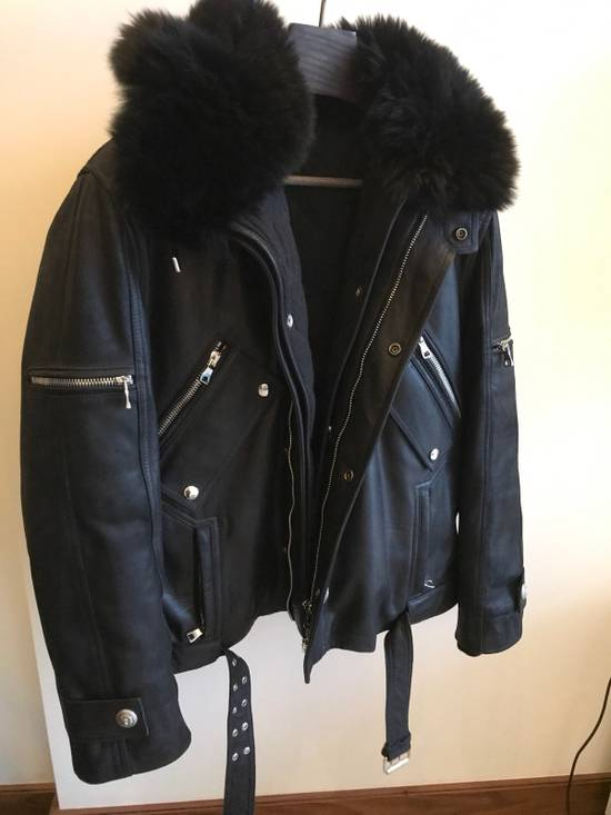 Balmain Leather Parka With Fur With Detachable Jacket And fur Size US M / EU 48-50 / 2